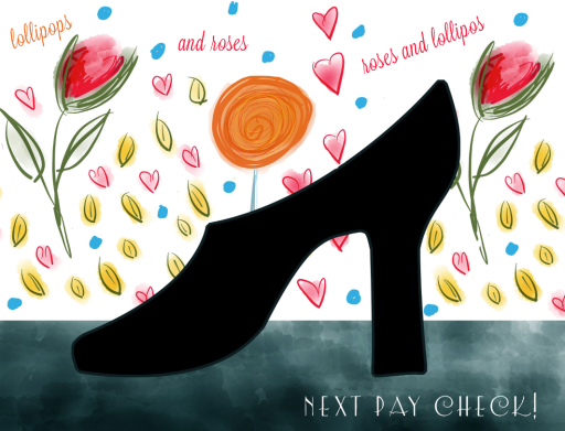 dsw ad illustration by lindsey baker