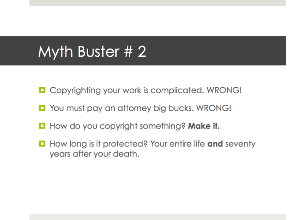 Myth Busters About Copyright