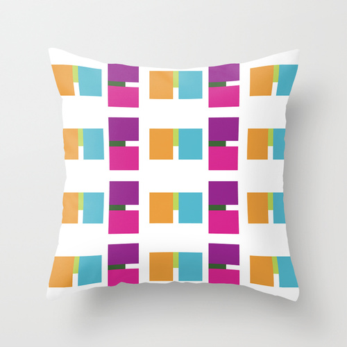 All about ME throw pillow by lindsey baker