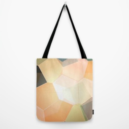 green abstract tote bag by lindsey baker